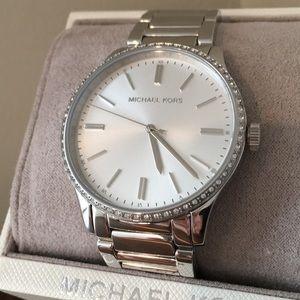 Michael Kors silver watch MK3807 NWT